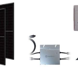 Wall plug solar components